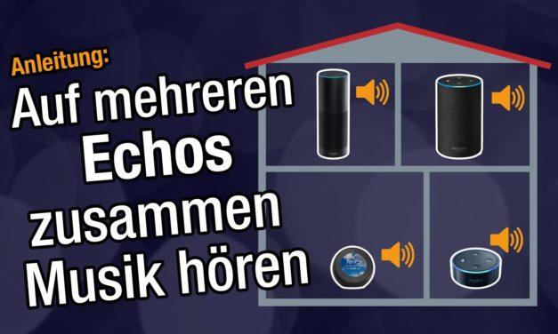 Anleitung: Auf mehreren Amazon Echos gleichzeitig Musik hören (Multiroom)