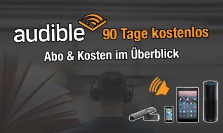 Was ist Audible? Abo Varianten & Kosten. Aktuell 90 Tage kostenlos testen.