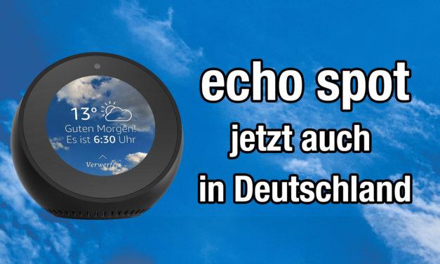 amazon Echo Spot ab sofort in Deutschland vorbestellbar