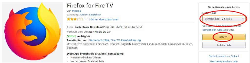 firefox browser auf dem fire tv installieren