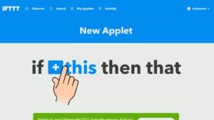 Mit einem Klick auf this in IFTTT legt ihr die neue Bedingung fest