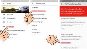 youtube einstellungen auf dem smartphone öffnen