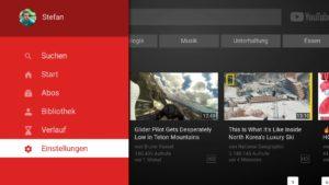 YouTube Einstellungen auf dem Fire TV aufrufen