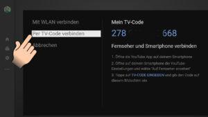 youtube per tv-code mit dem Smartphone verbinden