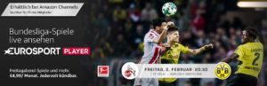 1.FC Köln gegen Borussia Dortmund live im Fernsehen anschauen - mit dem Eurosport Player auf dem Fire TV