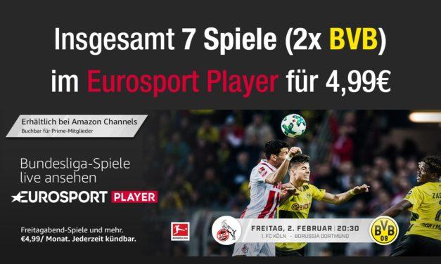 2x BVB für 5€ live schauen: heute Abend gegen Köln & 2 Wochen gegen FCA (#KOEBVB & #FCABVB)