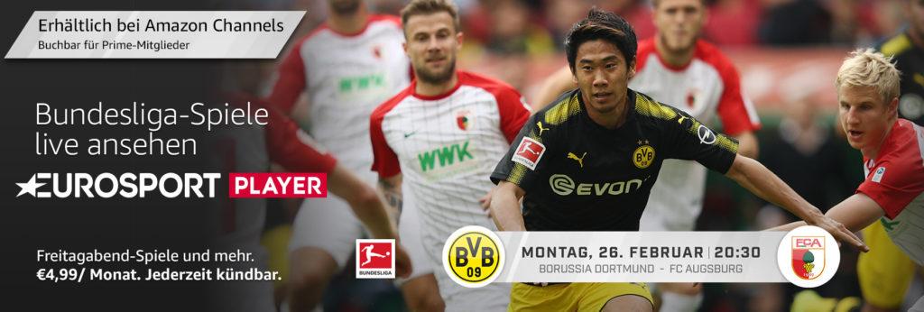 BVB gegen FCA heute Abend im Eurosport Player anschauen?