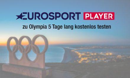 Während Olympia 5 Tage Eurosport Player kostenlos testen
