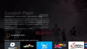 Eurosport Player Appf auf dem Fire TV oder Fire TV Stick