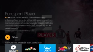 Eurosport Player App auf dem Fire TV Stick starten