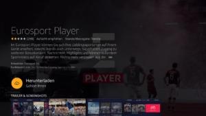 Eurosport Player App ist jetzt im amazon App Store auf dem Fire TV verfügbar