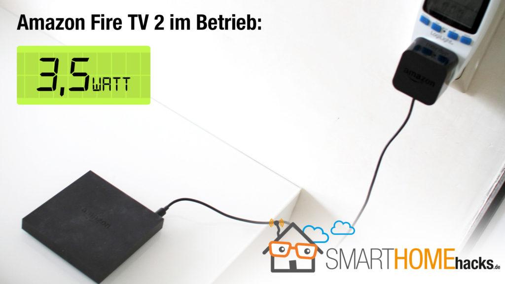 Stromverbrauch amazon Fire TV 2 im Betrieb