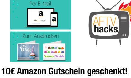 10€ amazon Guthaben geschenkt beim Kauf eines 100€ Gutscheins