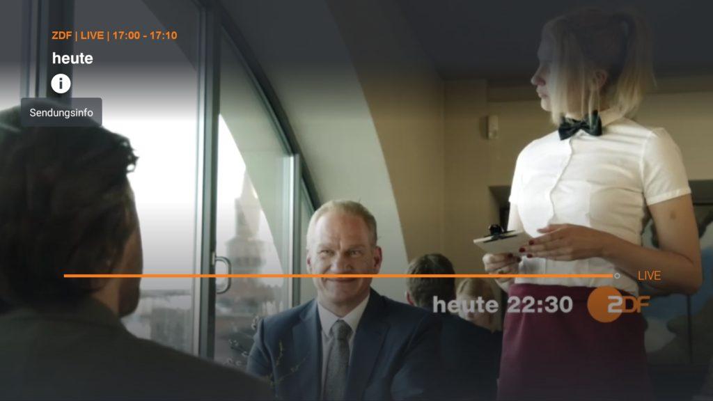 Danach öffnet sich sofort der ZDF-Live-Stream - am Sonntag auch der Supercup 2018