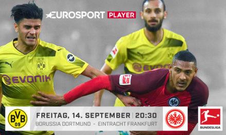 Heute Abend im Eurosport Player: Borussia Dortmund vs. Eintracht Frankfurt #BVBSGE