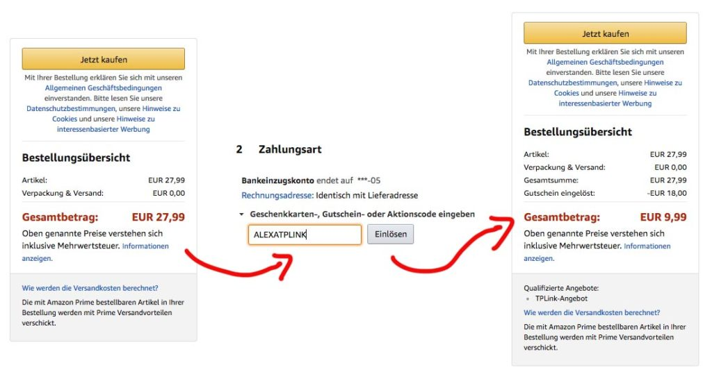 amazon gutschein code verwenden