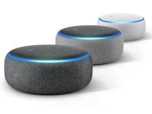 Der neue Echo dot kommt in 3 verschiedenen Farben