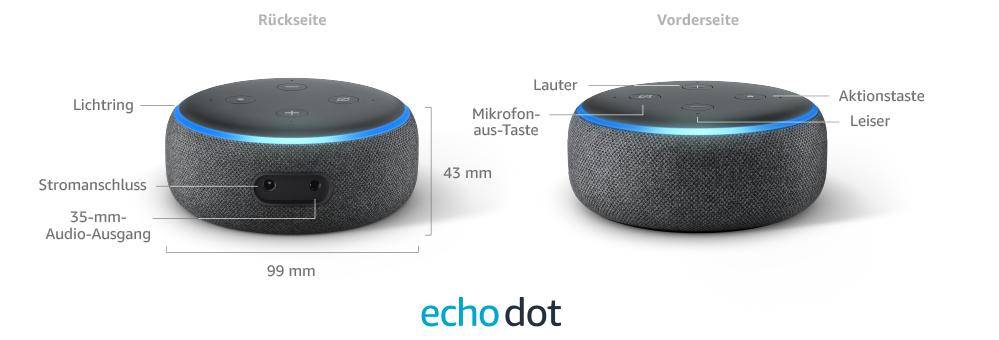 Die Anschlüsse des neuen Echo Dots