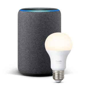 Echo Plus Generation 2 mit Philips Hue Lampe