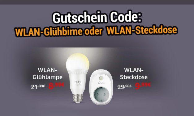 Gutscheincode: WLAN Glühlampe & TP-Link WLAN Stecktdose reduziert