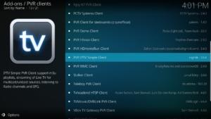 Sucht nun nach PVR IPTV Simple Client und klickt darauf