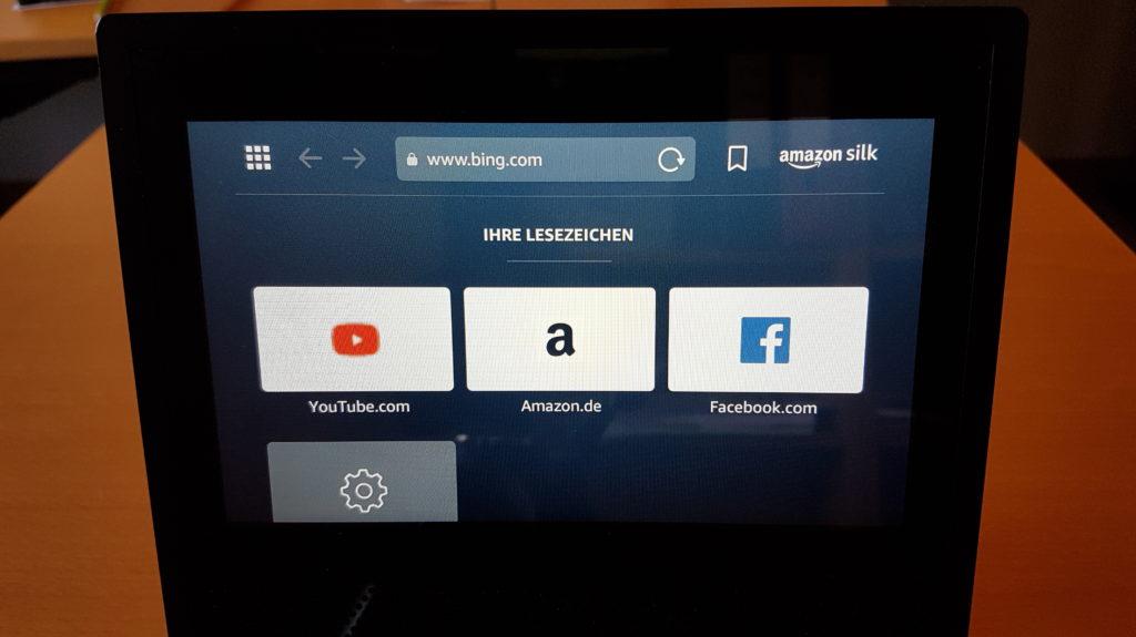 Der Internet-Browser Amazon Silk läuft jetzt auch auf dem Echo Show - und hiermit lassen sich beliebige Internetseiten öffnen