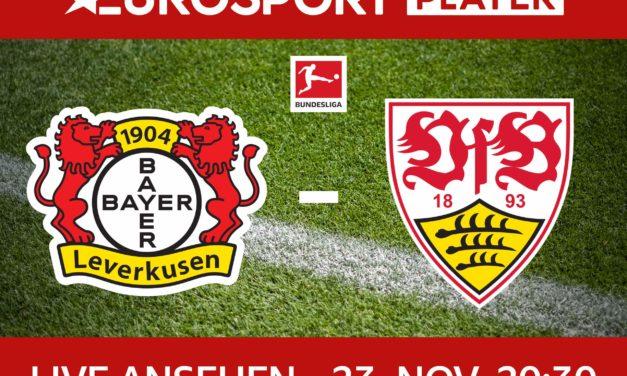 Heute Abend live auf Eurosport: Bayer 04 Leverkusen : VfB Stuttgart