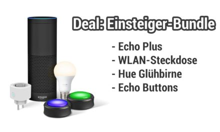 Deal: Amazon Echo Bundle mit Smart Plug, Echo Buttons & Phlipis Hue Glühbirne