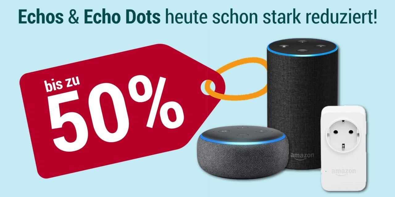 Deal: Amazon Echos & Echo Dots heute schon stark reduziert!