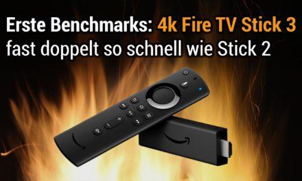 Erste Benchmarks zum 4K Fire TV Stick 3: fast doppelt so schnell wie Stick 2