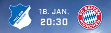 Wenn Ihr heute den Eurosport Player Channel bucht, könnt Ihr im Januar auch noch die Partie Hoffenheim gegen Bayern live anschauen