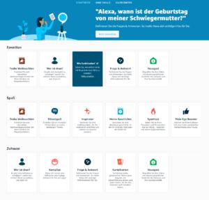 Die bislang verfügbaren Alexa Skil Blueprints
