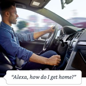 Mit Echo Auto lassen sich Navigationssysteme wie Google Maps per Alexa steuern