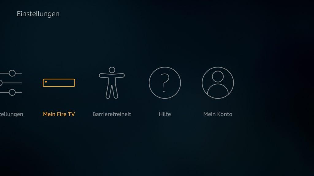 In den Fire TV Einstellungen geht Ihr zunächst auf Mein Fire TV.