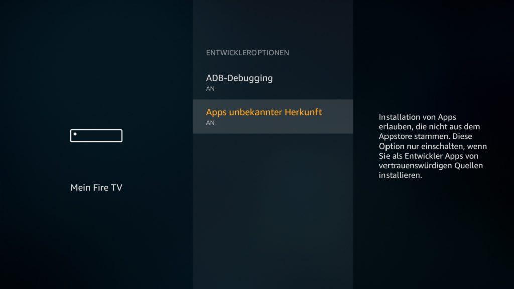 """""""Apps unbekannter Herkunft"""" muss auf AN steht. Falls nicht, klickt darauf."""