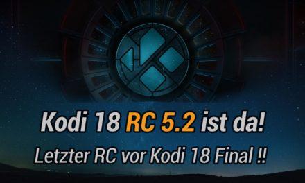 Kodi 18 RC5.2: letzter Release-Candidate vor der Kodi 18 Final erschienen