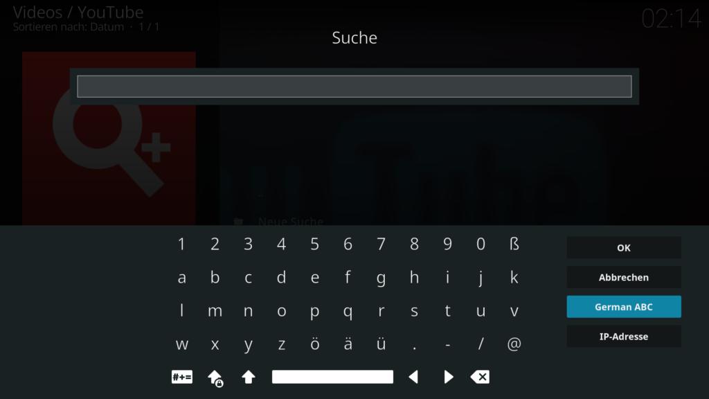 """Die Tastaturbelegung """"German ABC"""" sortiert die Zeichen der OnScreen-Tastatur alphabetisch."""