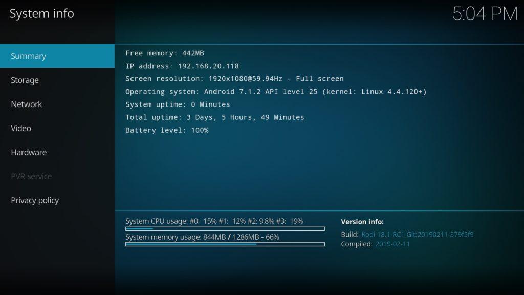 Kodi 18.1 RC1 auf dem Fire TV Stick 4k