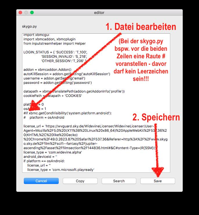 """Nun müsst Ihr nur noch die Datei wie gewünscht bearbeiten und unten rechts auf """"Save"""" klicken."""