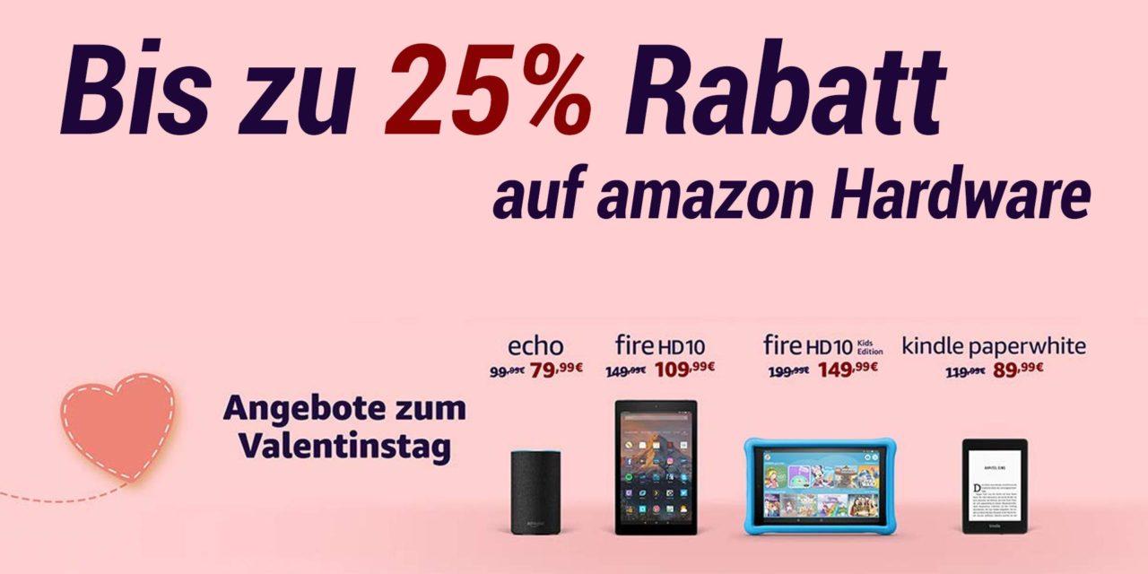 Deal: Bis zu 25% Rabatt auf amazon Hardware
