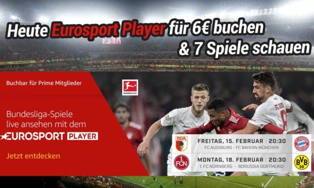 Heute Eurosport Player für 6€ buchen & 7 Spiele schauen: 1x Bayern, 2x BVB, 2x Werder, …