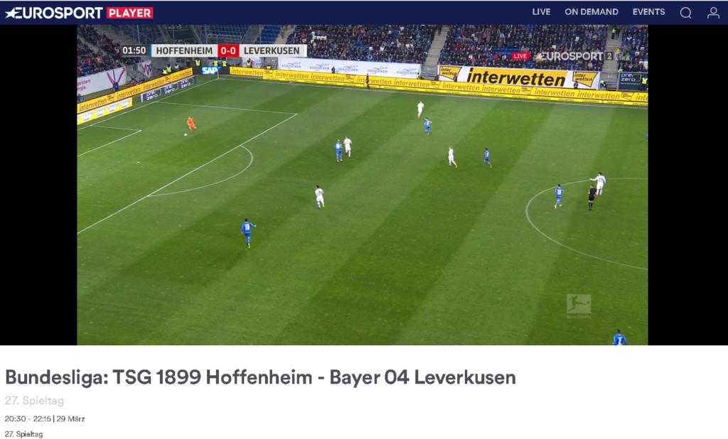 Bundesliga ist auch im polnischen Eurosport Player Jahresabo enthalten - wir haben es gerade nochmal beim Freitagsspiel getestet.