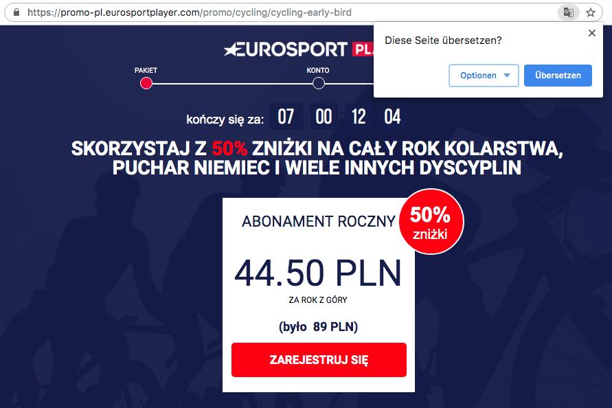 Eurosport Player Buchen