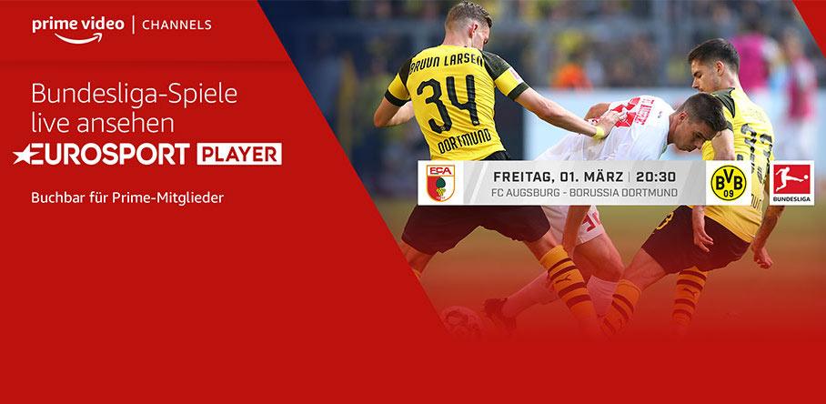 Heute Abend FCA gegen BVB schauen + 5 Spiele in den nächsten Wochen: für insgesamt 6€