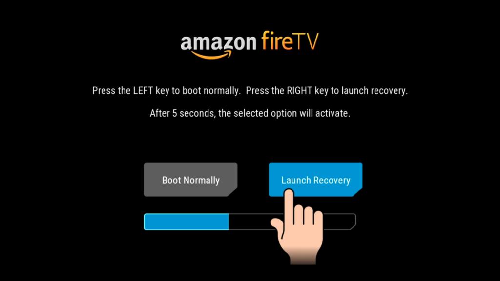 """Im TWRP Bootmenü müsst Ihr einmal nach rechts klicken und """"Launch Recovery"""" auswählen"""