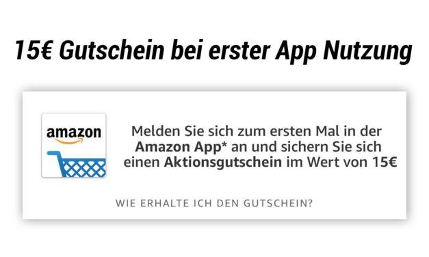 15€ Amazon Gutschein bei Benutzung der App