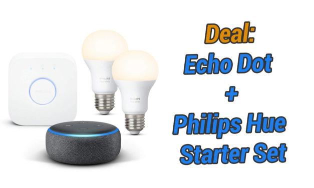 Deal: Philips Hue Starterset + Echo Dot Bundle