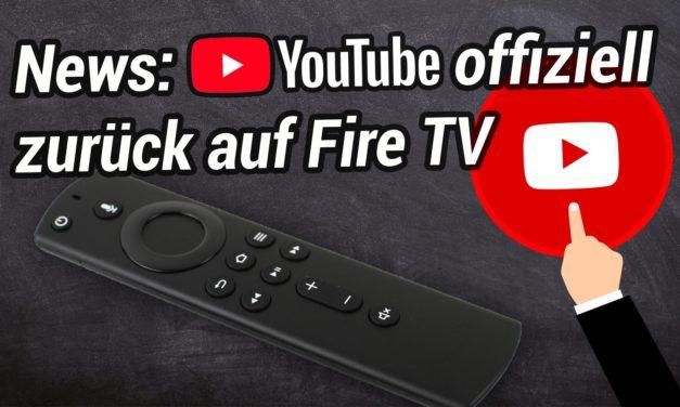 Offizielle YouTube App kommt zurück aufs Fire TV