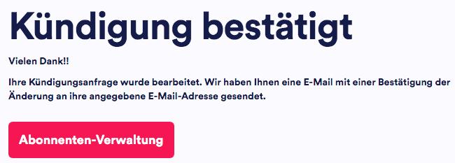 Anschließend meldet der Eurosport Player Kündigung bestätigt - anschließend erhaltet Ihr noch eine eMail von Eurosport