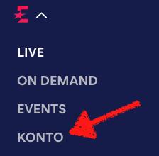 Auf der mobilen Webseite müsst Ihr erst links oben das Menü öffnen und dort dann auf KONTO klicken